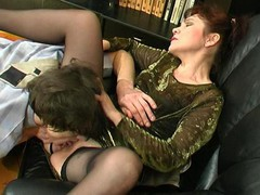 Experienced aged chick getting her mellow snatch licked and drilled hard